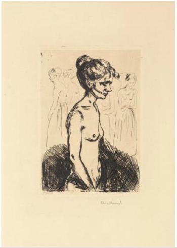 Edvard Munch-Gamle kvinner pa sykhus (Old women in Hospital)-1902