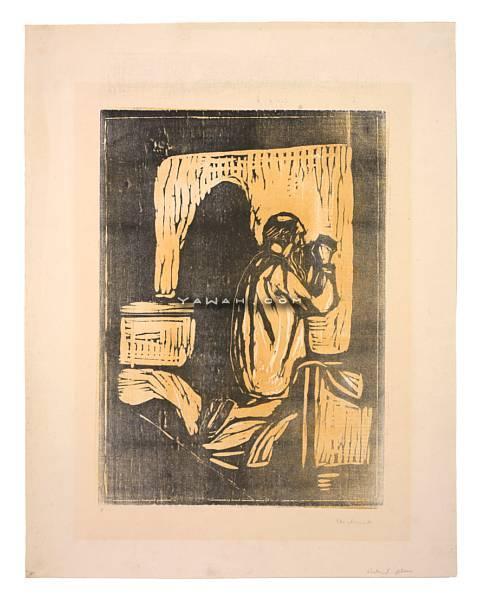 Edvard Munch-Gammel Mann i Bonn / Old Man Praying / Gebet des Alten Mannes (Sch. 173; W. 205)-1902