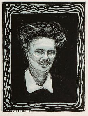 Edvard Munch-August Strindberg-1896