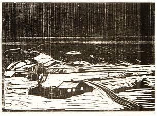 Edvard Munch-Grosse Schneelandschaft / Extensive Snow Landscape / Snowy Landscape / Snolandskap / Winter landscape (Wool 134)-1898