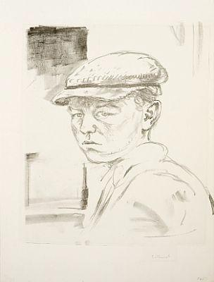 Edvard Munch-Jarl / Young boy with peaked cap-1912