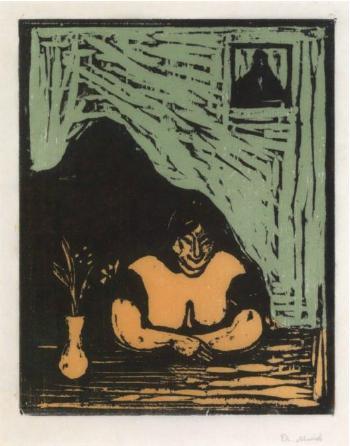 Edvard Munch-Den Tykke Horen / The Fat Whore (Woll 154; Schiefler 131)-1899