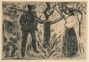 Edvard Munch-Adam og Eva (Adam and Eve)-1915