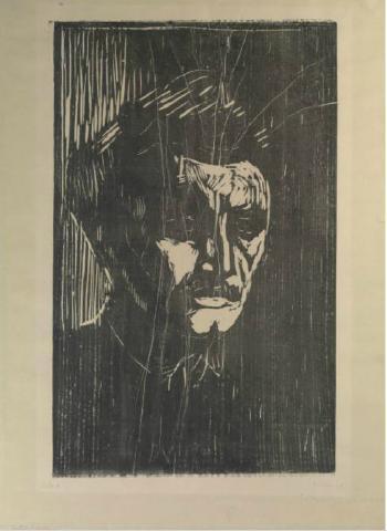Edvard Munch-Selvportrett (Sch. 352; Woll 391)-1912