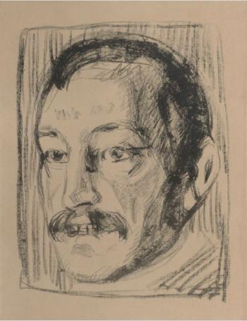Edvard Munch-Torvald Stang I (Woll 398)-1912