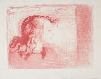 Edvard Munch-Das kranke Kind I / Das kranke Madchen / Det Syke Barn I (W. 72; Sch. 59)-1897