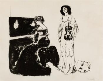 Edvard Munch-Fiolinkonserten / Violin Concert / Geigenkonzert - Eva Mudocci und Bella Edvards (W. 243)-1903