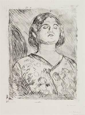 Edvard Munch-Fornaermet dame (Offended Lady)-1914