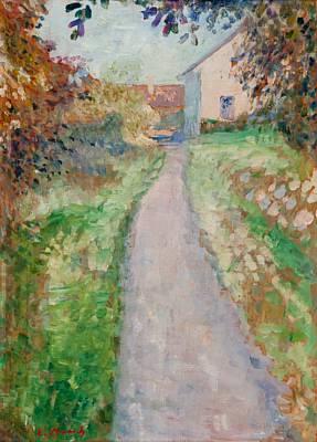 Edvard Munch-Havegang (Garden Path)-1890