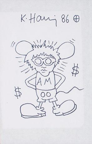 Keith Haring-Keith Haring - Andy Mouse-1986