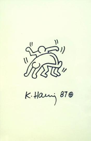 Keith Haring-Keith Haring - Two dancers-1987