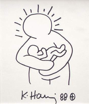 Keith Haring-Keith Haring - Maternite-1988