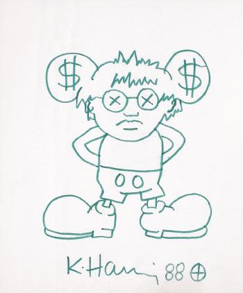 Keith Haring-Keith Haring - Dollar-Mickey-1988