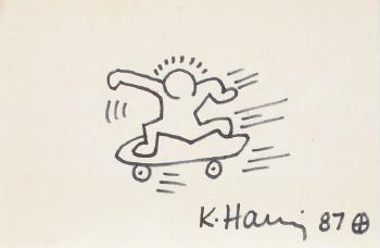 Keith Haring-Keith Haring - The skateboarder-1987