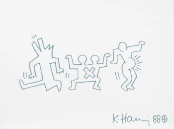 Keith Haring-Keith Haring - The three dancers-1988