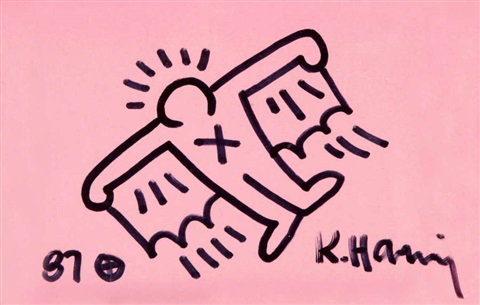 Keith Haring-Keith Haring - Homme volant-1987