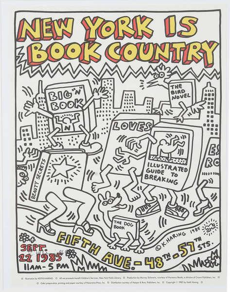 Keith Haring-Keith Haring - New York is book country-1985