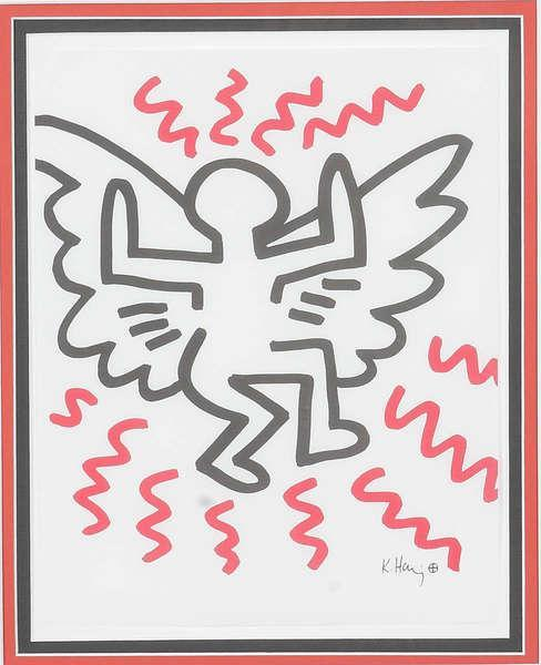 Keith Haring-Keith Haring - Angel-1982