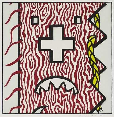 Roy Lichtenstein-American Indian Theme IV-1980