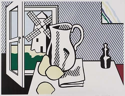 Roy Lichtenstein-Still Life with Windmill (from Six Still Lifes Series)-1974