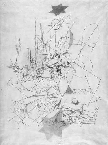 Paul Klee-Zerstorung und Hoffnung-1916