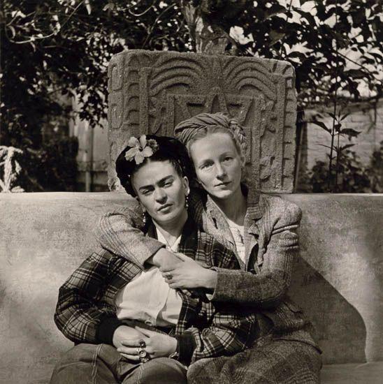 Diego Rivera-Frida Kahlo and Emmy Packard-1941