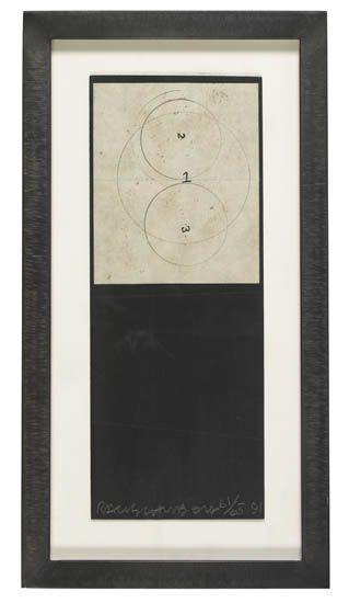 Robert Rauschenberg-Robert Rauschenberg - Shirtboard (Concentric Cirlcles) (From Shirtboards, Morocco, Italy 52 Portfolio)-1991