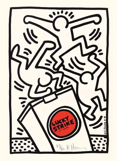Keith Haring-Keith Haring - Lucky Strike (pl. 4) (Littman sidan 79)-1987