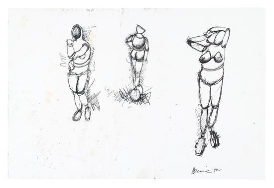 Richard Prince-Three Castered Figures-1972