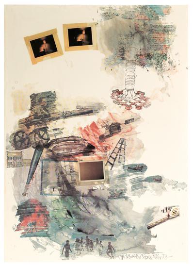 Robert Rauschenberg-Robert Rauschenberg - Untitled-1972