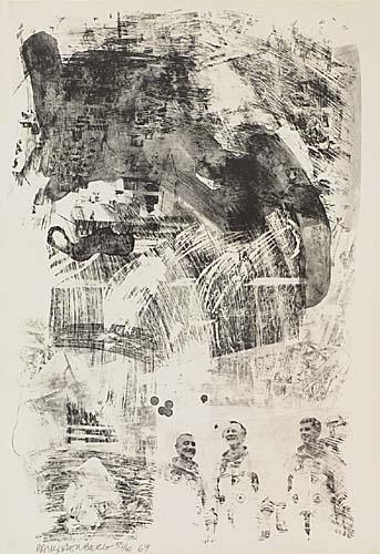 Robert Rauschenberg-Robert Rauschenberg - Brake, from Stone Moon Series-1969