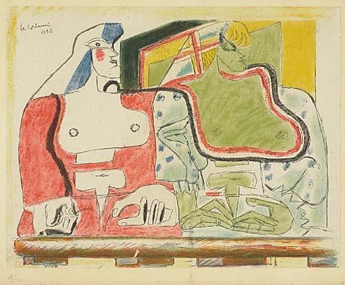 Le Corbusier-Femme et homme-1960