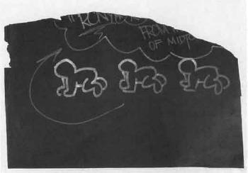Keith Haring-Keith Haring - Three crawling Figures-