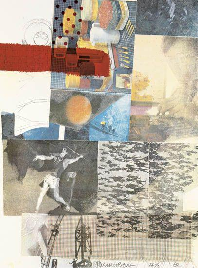 Robert Rauschenberg-Robert Rauschenberg - Untitled (From the Thirteen Prints to Commemorate Anthology Film Archives)-1982