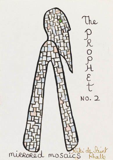Niki de Saint Phalle-The Prophet No. 2 (Mirrored Mosaic)-1990