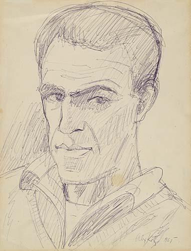 Alex Katz-Self Portrait-1965