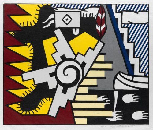 Roy Lichtenstein-American Indian Theme II-1980