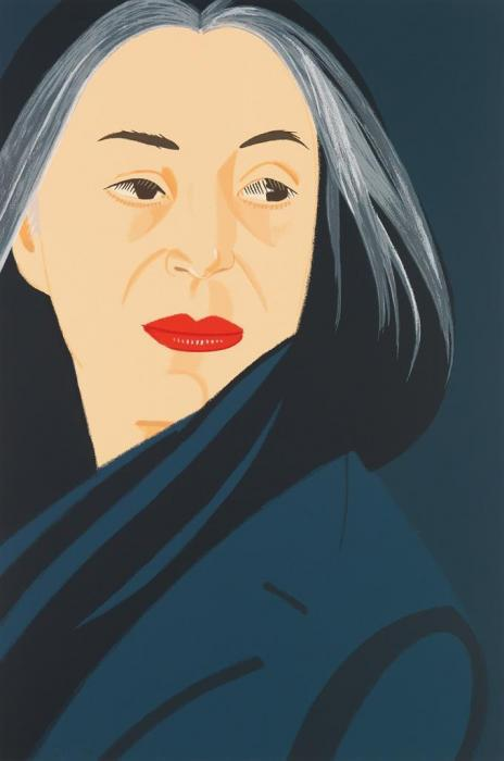 Alex Katz-Black Scarf-1996