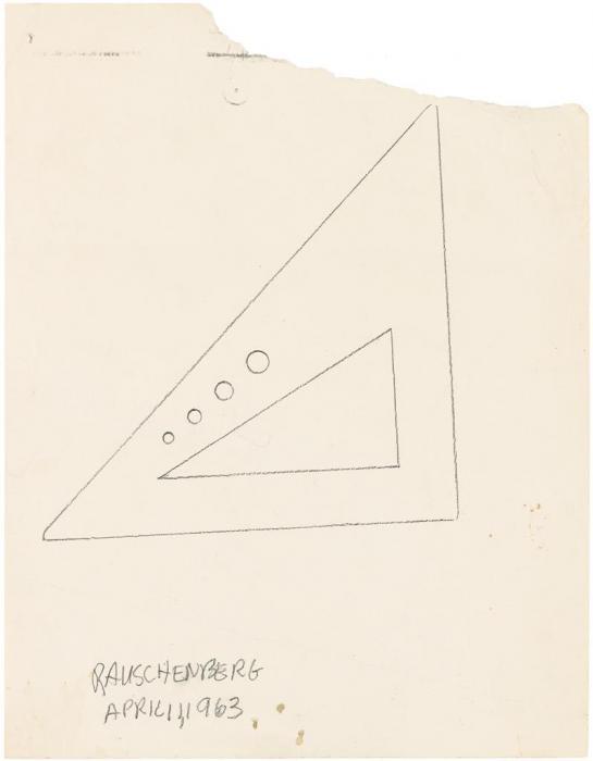 Robert Rauschenberg-Robert Rauschenberg - Protractor-1963