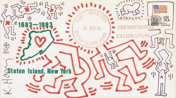 Keith Haring-Keith Haring - Envelope with Figures-