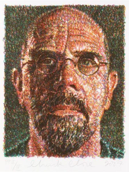 Chuck Close-Self Portrait (Scribble / Lincoln Center-2007
