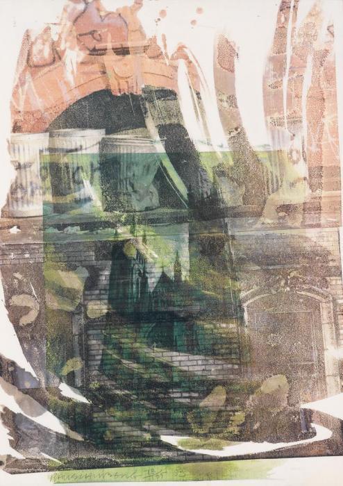 Robert Rauschenberg-Robert Rauschenberg - Saint John the Divine (Cathedral Print)-1993