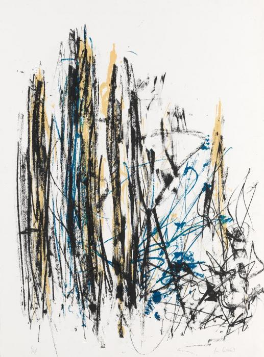 Joan Mitchell-Arbres (Black, Yellow and Blue)-1990
