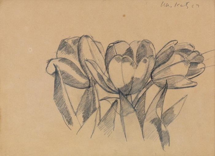 Alex Katz-Three Tulips-1967
