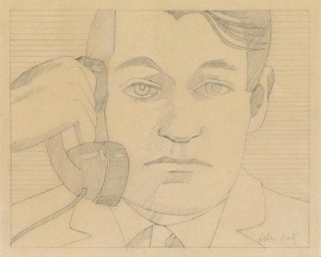 Alex Katz-Portrait of John Ashbery-1970