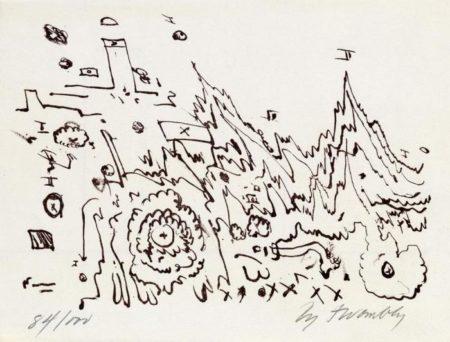 Cy Twombly-La Tartaruga augura Buon Anno-1960