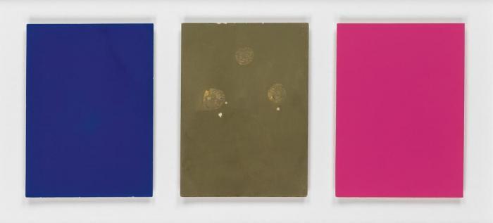 Yves Klein-Monochrome und Feuer (Triptych)-1961