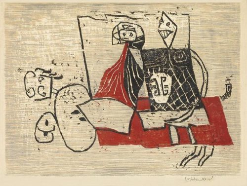 Roy Lichtenstein-Knight with Lady (Knight and Lady)-1951