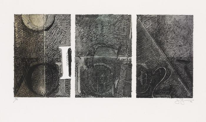 Jasper Johns-Voice 2 (ULAE 232) (ULAE S20)-1983