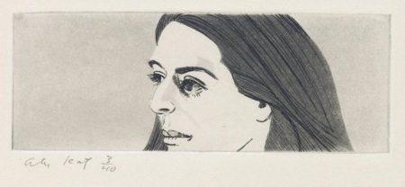 Alex Katz-Small Head of Ada-1972